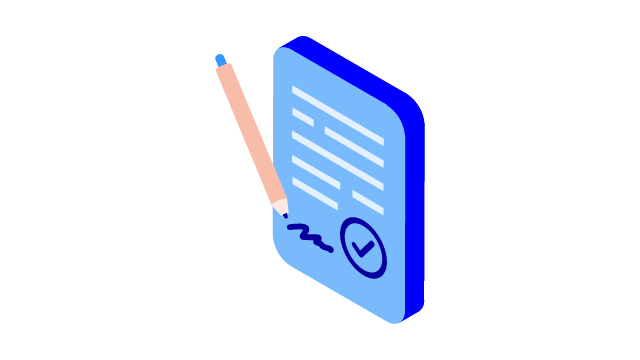 Sign a document icon - 640x360