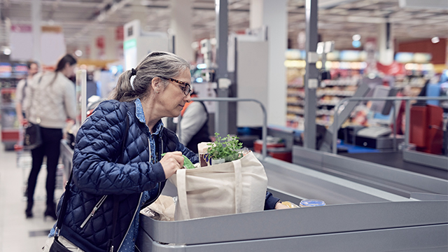 Senior woman shopping groceries_small