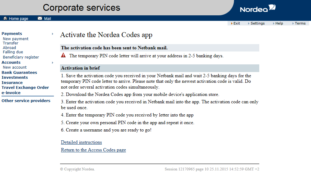 Nordea Codes app - Business | Nordea fi