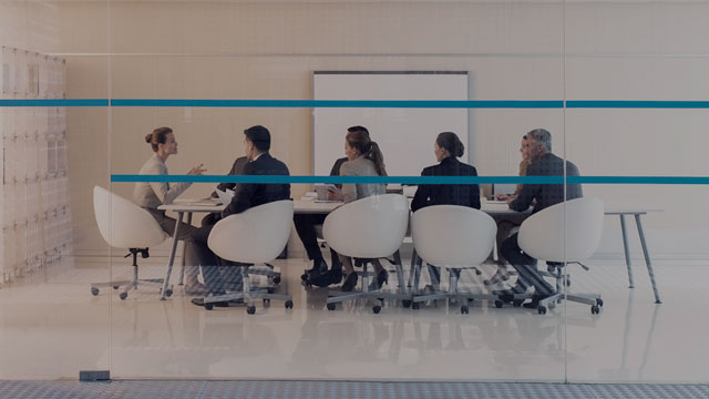 Group of people in modern meeting room small