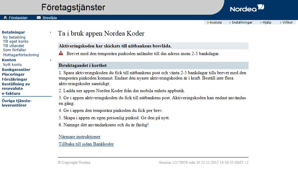 Nordea.Fi/Pankkitunnukset