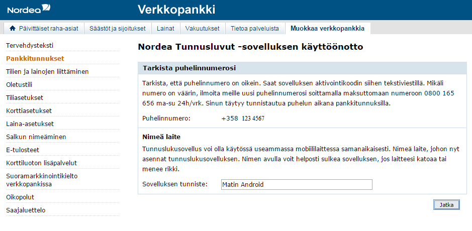 Rahansiirto Op Nordea