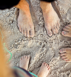 Feet in sand